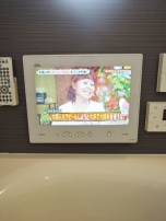 BIG TV IN BATHROOM